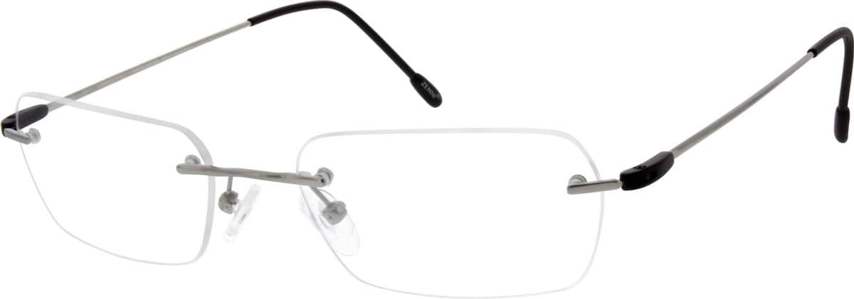 Gold Rimless Titanium Eyeglasses 1337 Zenni Optical