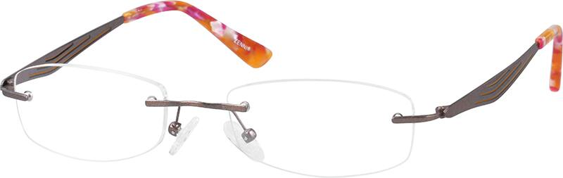 WomenRimlessTitaniumEyeglasses #133819