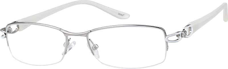 WomenHalf RimTitaniumEyeglasses #134211