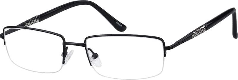 MenHalf RimTitaniumEyeglasses #134314