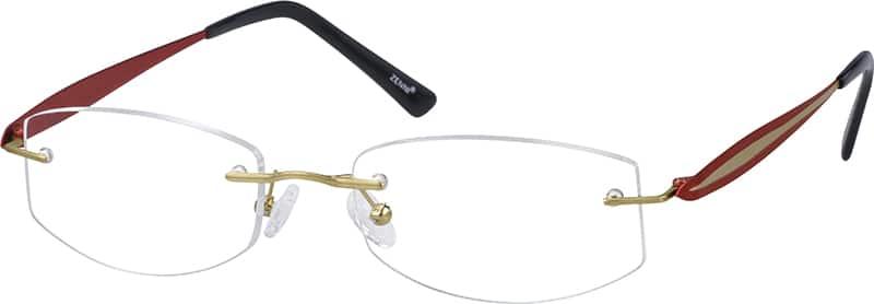 WomenRimlessTitaniumEyeglasses #134811