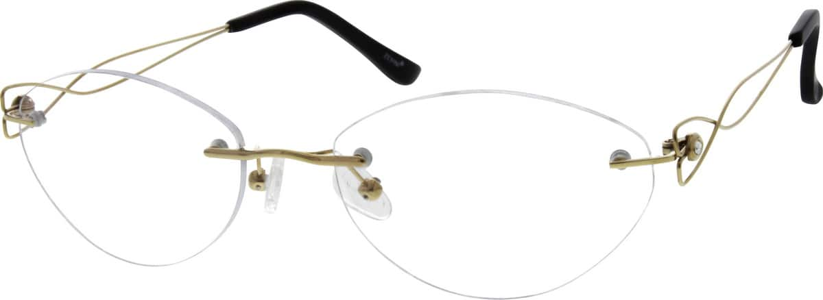 WomenRimlessTitaniumEyeglasses #134914