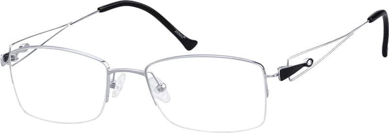 womens-half-rim-titanium-rectangle-eyeglass-frames-135011