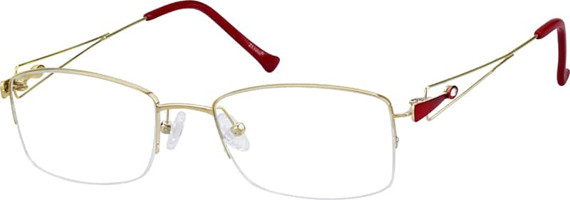 womens-half-rim-titanium-rectangle-eyeglass-frames-135014