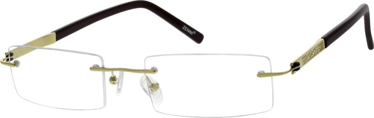 Men Rimless Titanium Eyeglasses #135314