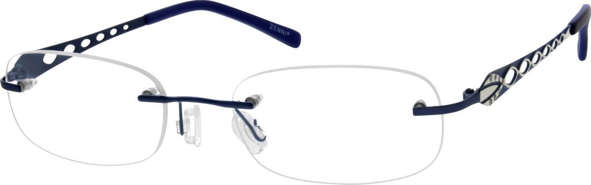 Blue Rimless Titanium Eyeglasses #1357 Zenni Optical ...