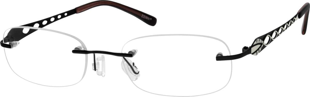 Rimless Distance Glasses : Black Rimless Titanium Eyeglasses #1357 Zenni Optical ...