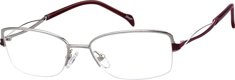 womens-half-rim-titanium-rectangle-eyeglass-frames-135911
