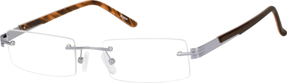 Men Rimless Titanium Eyeglasses #136015