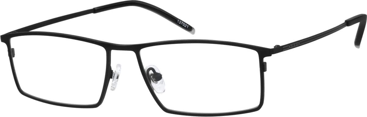 Black Titanium Rectangle Eyeglasses 1370 Zenni Optical