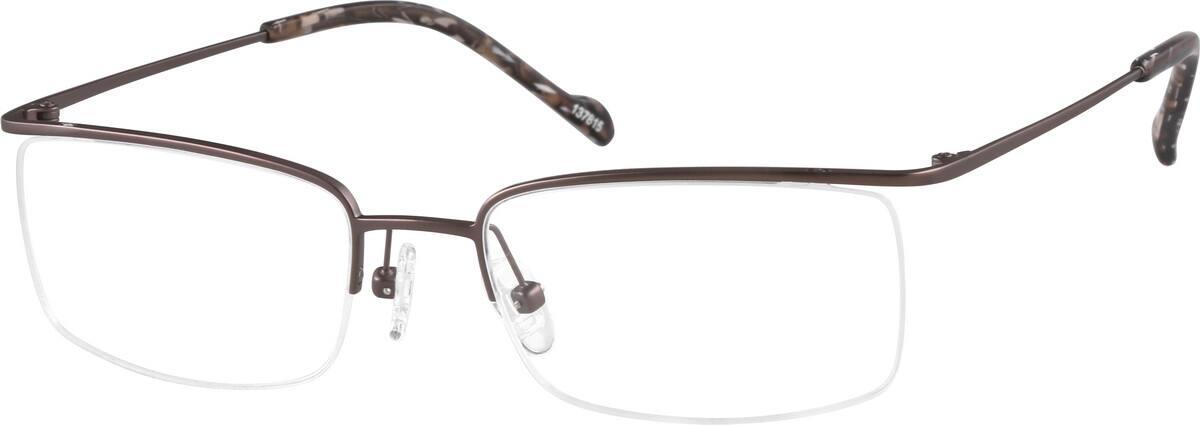 UnisexHalf RimTitaniumEyeglasses #137815
