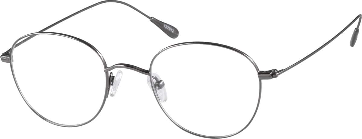 Gray Titanium Round Glasses #1379 Zenni Optical Eyeglasses