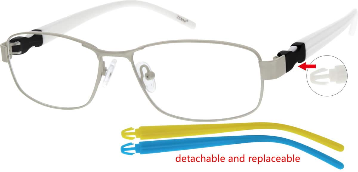 Unisex Full Rim Mixed Materials Eyeglasses #140221
