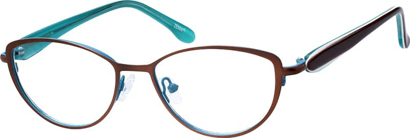Women Full Rim Mixed Materials Eyeglasses #140312