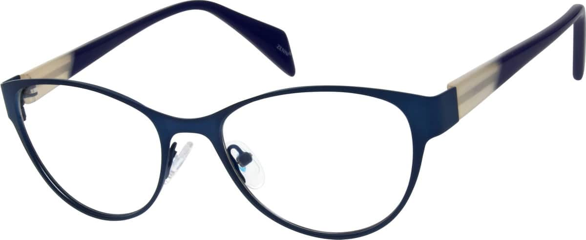 Women Full Rim Mixed Materials Eyeglasses #141016