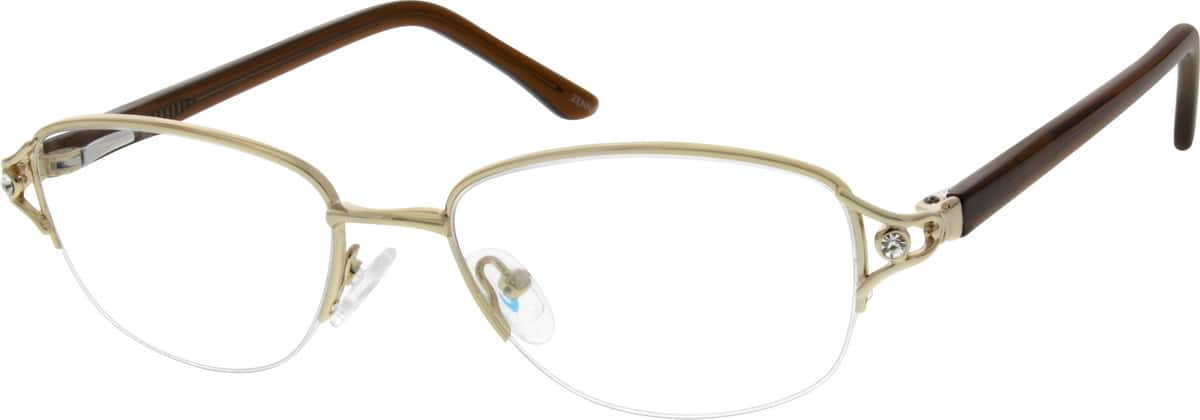 WomenHalf RimMixed MaterialsEyeglasses #141114
