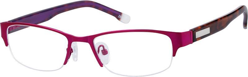 WomenHalf RimMixed MaterialsEyeglasses #141414