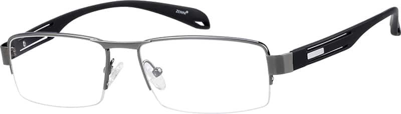 MenHalf RimMixed MaterialsEyeglasses #141715