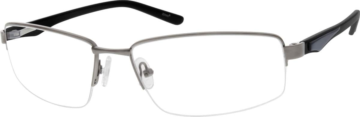 Men Half Rim Mixed Materials Eyeglasses #141811