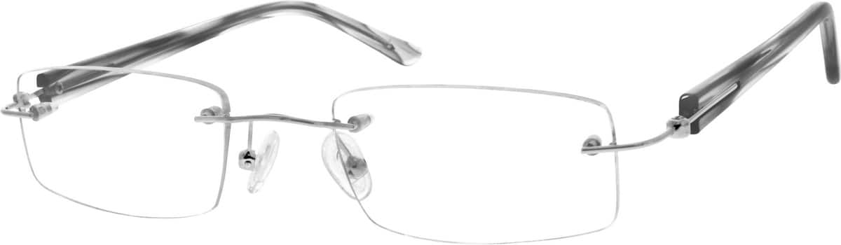 Women Rimless Mixed Materials Eyeglasses #142117