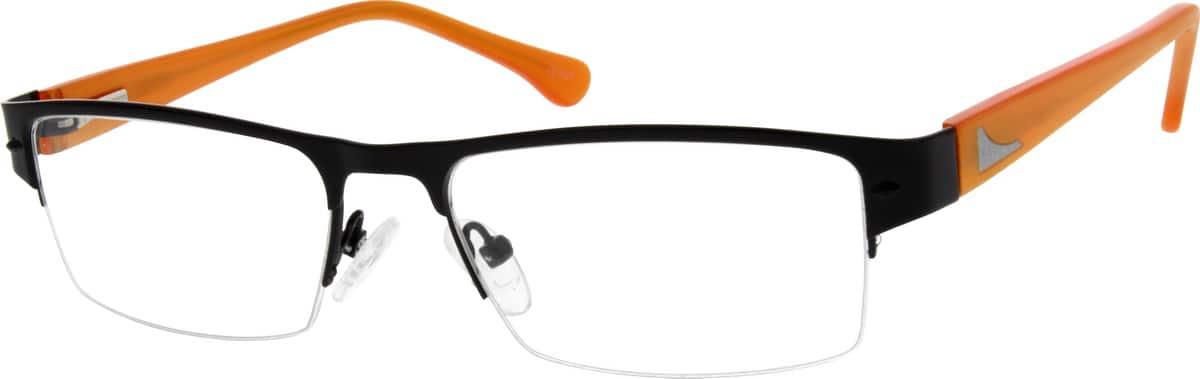 MenHalf RimMixed MaterialsEyeglasses #142421