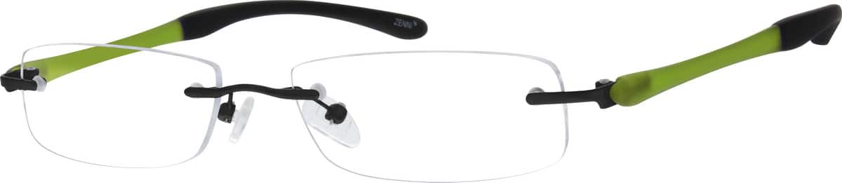 Unisex Rimless Mixed Materials Eyeglasses #142811