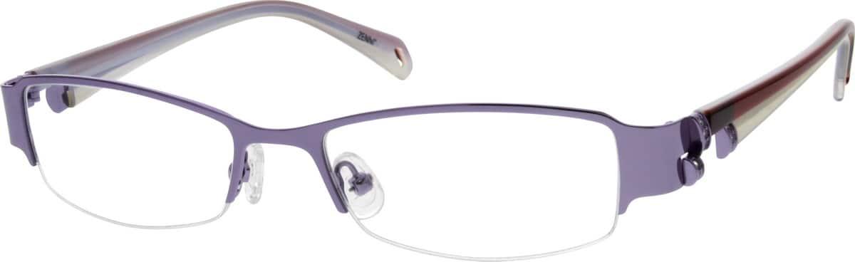 WomenHalf RimMixed MaterialsEyeglasses #143412