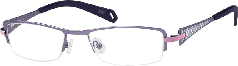 Women Half Rim Stainless Steel Eyeglasses #143530