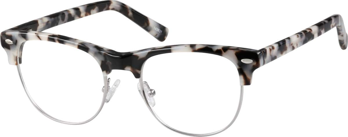 Unisex Full Rim Mixed Materials Eyeglasses #143821