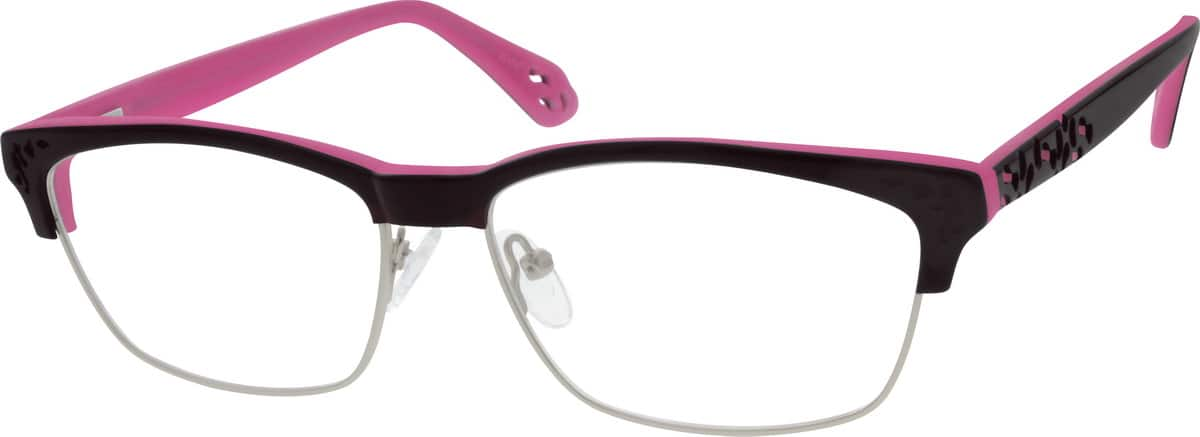 Women Full Rim Mixed Materials Eyeglasses #143918