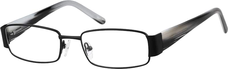 Men Full Rim Mixed Materials Eyeglasses #144415