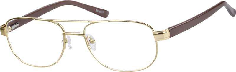 mens-full-rim-mixed materials-aviator-eyeglass-frames-145114