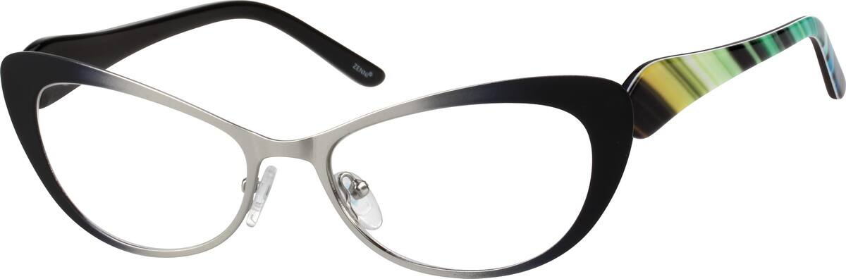 Women Full Rim Mixed Materials Eyeglasses #145514