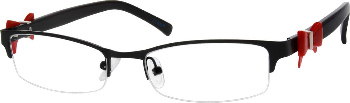 WomenHalf RimMixed MaterialsEyeglasses #145615