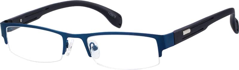 mens-half-rim-mixed materials-rectangle-eyeglass-frames-145816