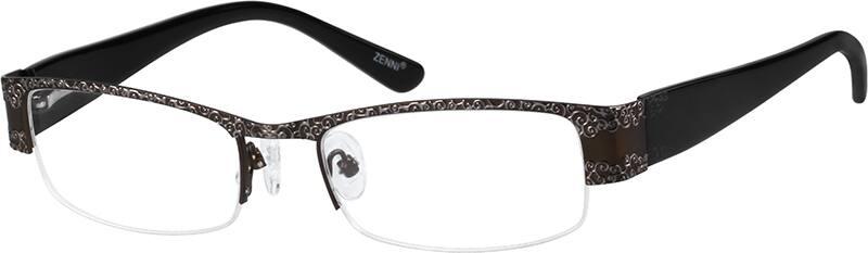 WomenHalf RimMixed MaterialsEyeglasses #147515