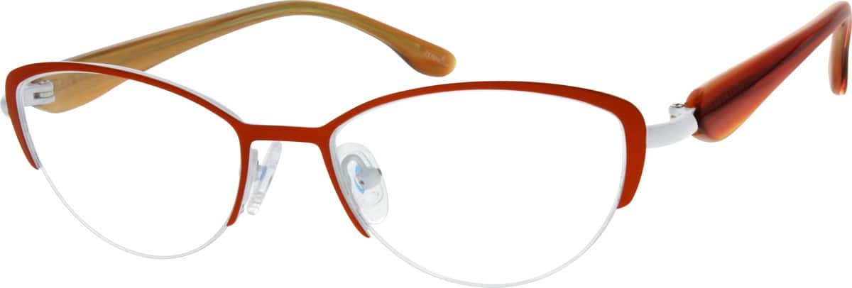 WomenHalf RimMixed MaterialsEyeglasses #147815