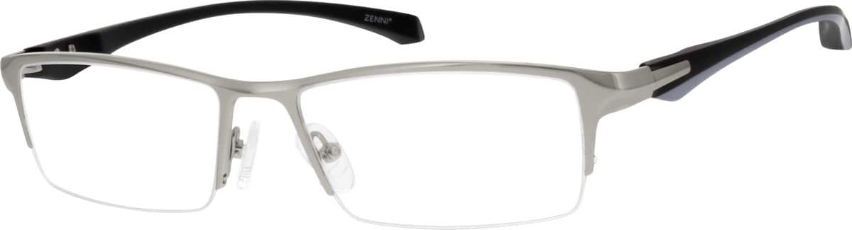 Men Half Rim Mixed Materials Eyeglasses #148011
