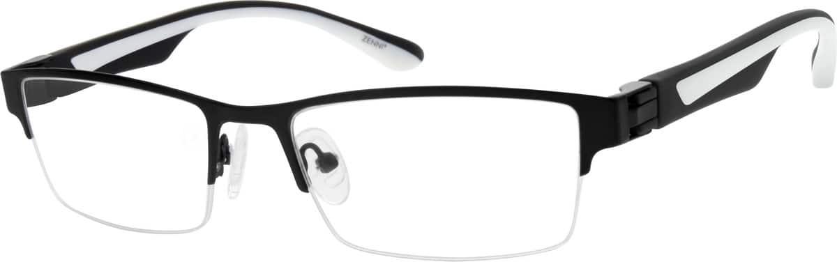 MenHalf RimMixed MaterialsEyeglasses #148215