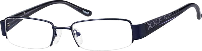 mens-half-rim-mixed materials-rectangle-eyeglass-frames-148416