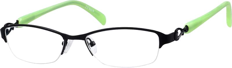 womens-half-rim-mixed materials-rectangle-eyeglass-frames-148621