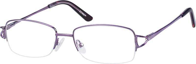 womens-half-rim-stainless steel-rectangle-eyeglass-frames-148817