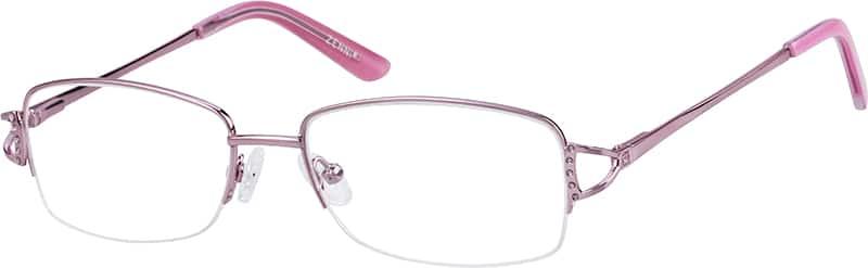 WomenHalf RimStainless SteelEyeglasses #148817