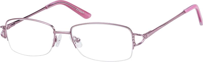womens-half-rim-stainless steel-rectangle-eyeglass-frames-148819