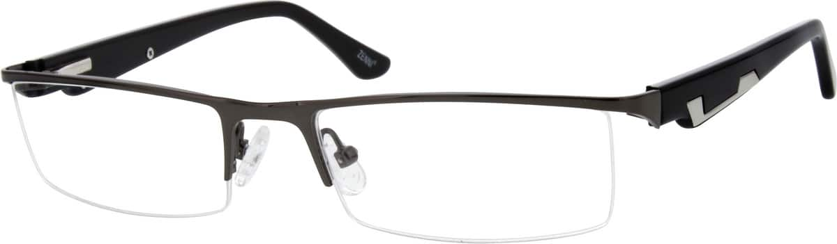 Men Half Rim Mixed Materials Eyeglasses #149616