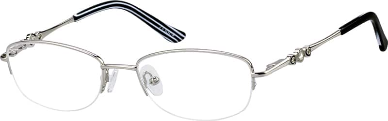Women Half Rim Metal Eyeglasses #150111