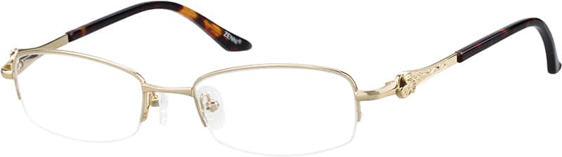 womens-half-rim-metal-rectangle-eyeglass-frames-151014