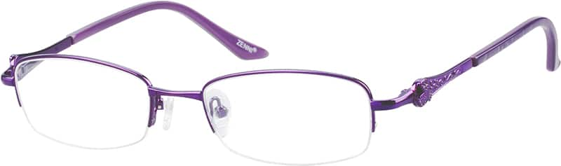 Women Half Rim Metal Eyeglasses #151014