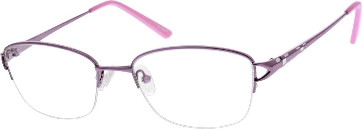 WomenHalf RimMetalEyeglasses #151517