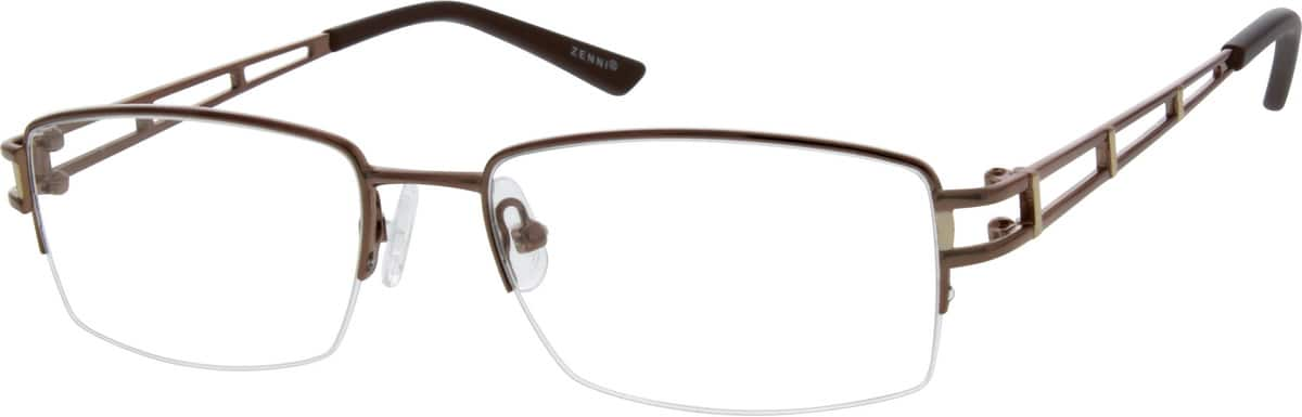 Men Half Rim Metal Eyeglasses #152321